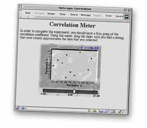 Correlation meter screen